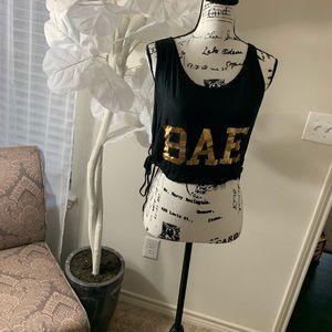 Bae crop top side tie